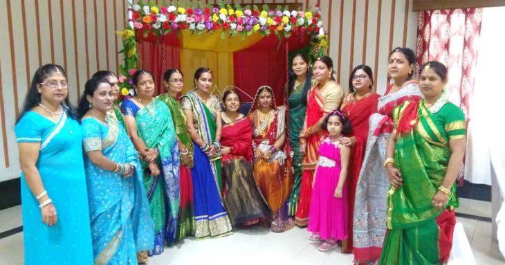 हरियाली तीज उत्सव के मौके पर शामिल पूर्व रेलवे महिला कल्याण संगठन -असनसोल की सदस्याएं