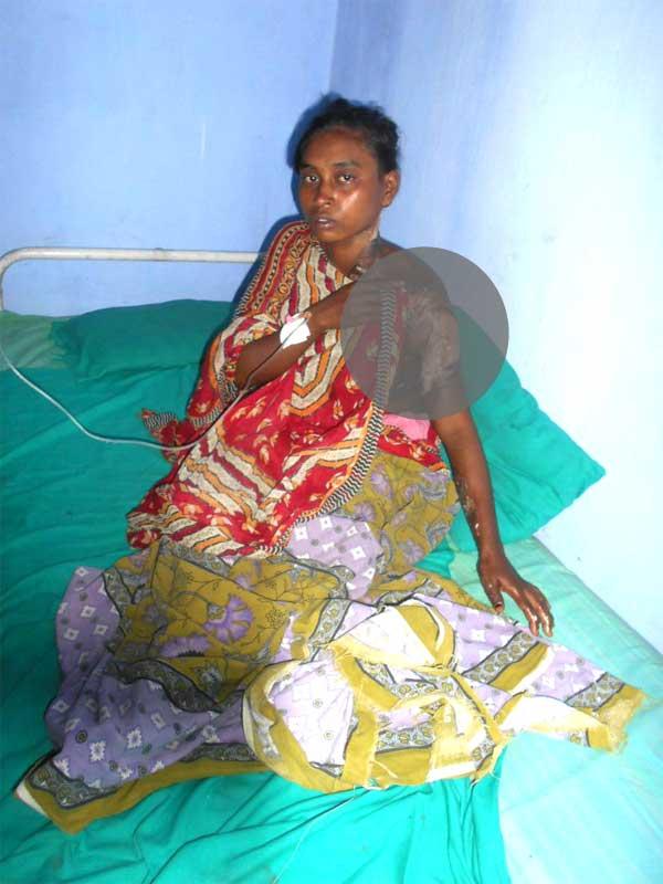 निजी अस्पताल में इलाजरत रीता भुईया
