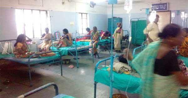 डायरिया के प्रकोप से अस्पताल में मरीजों का तांता