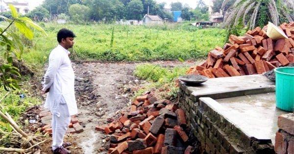 तालाब भराई एवं अवैध निर्माण का जायजा लेने पहुंचे भाजयुमो जिलाध्यक्ष संतोष वर्मा