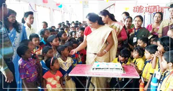 लिटिल एंजेल स्कुल ने आनाथाश्रम के बच्चों के साथ मनाया बाल दिवस