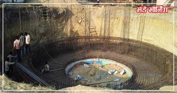पानी टंकी का निर्माण स्थल
