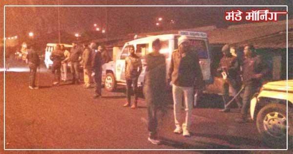 घटना बाद पुलिस का जमावड़ा